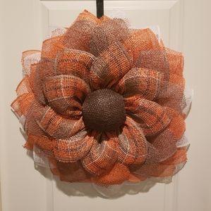 Handmade 3D Sunflower Wreath,Fall,Sprong,Door